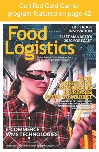 Cover of Food Logsitics Magazine